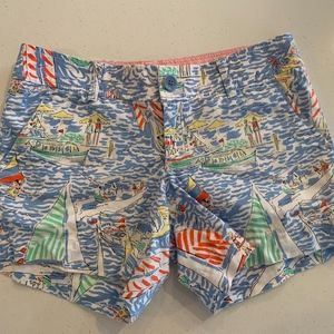 Lilly Pulitzer Sailboat Shorts